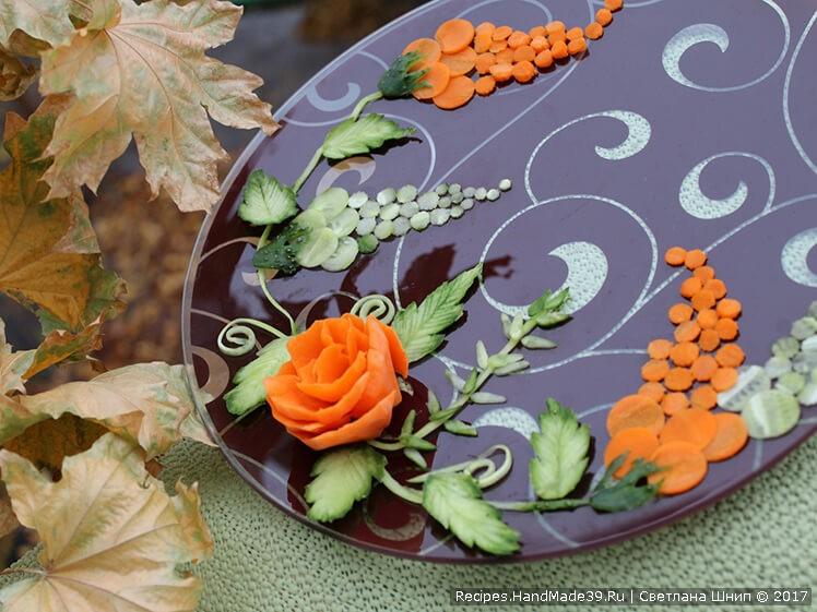 Как сделать цветы из продуктов фото 814