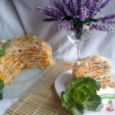 Капустный торт «Наполеон» – пошаговый кулинарный рецепт с фото