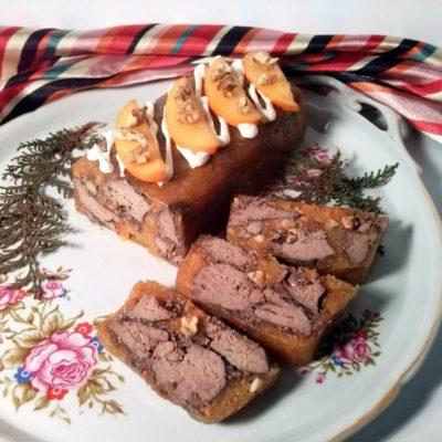 Куриная печень в желе из хурмы – пошаговый кулинарный рецепт с фото