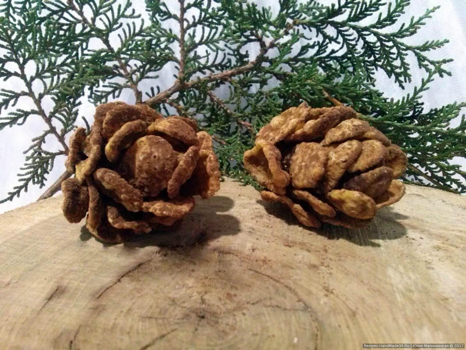 Домашние конфеты «Новогодняя шишка» – пошаговый кулинарный рецепт с фото. Приятного аппетита!
