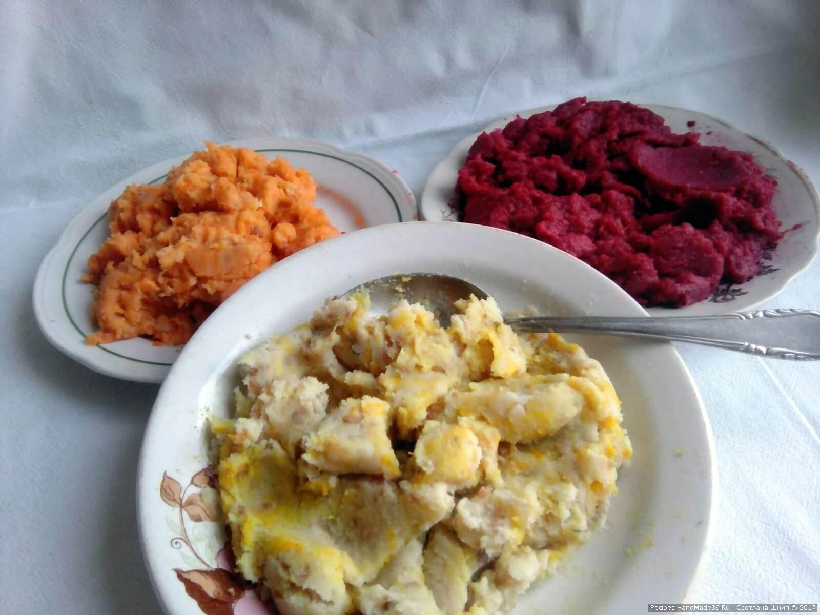 В первую часть добавить свёклу, во вторую – морковь, а в третью – куркуму
