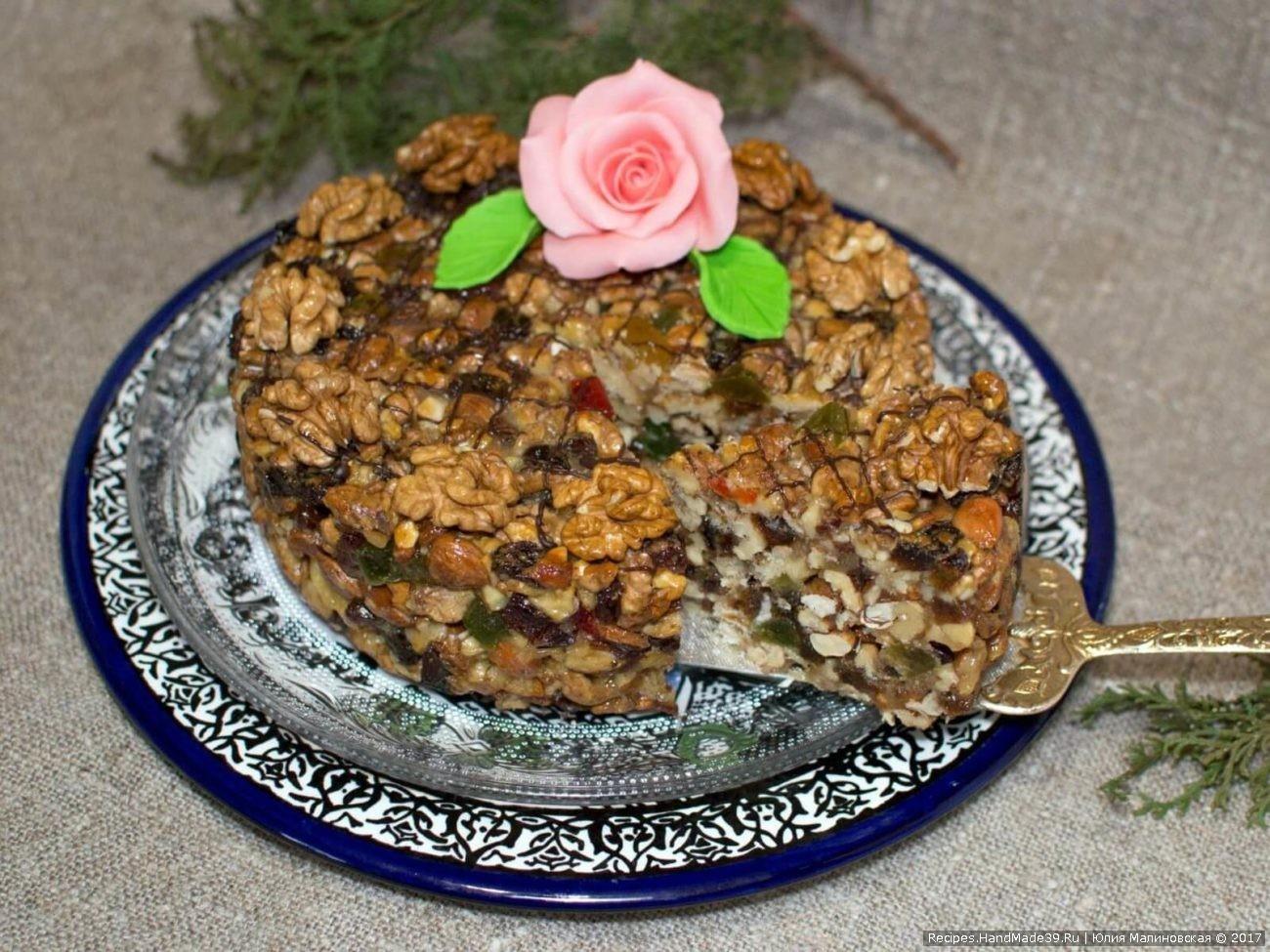 Панфорте – праздничный пирог из орехов и сухофруктов