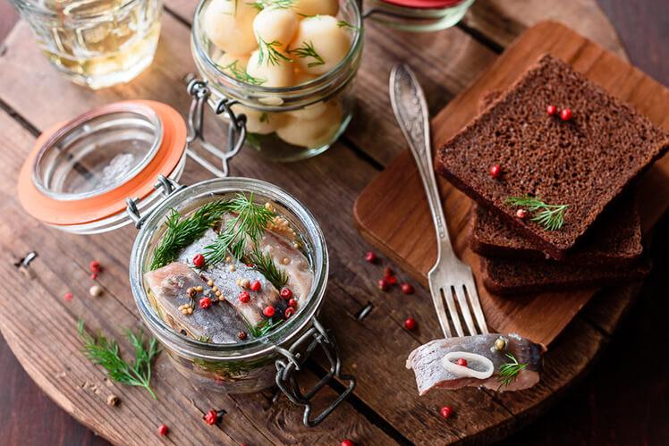 Рецепт сельди, маринованной в масле