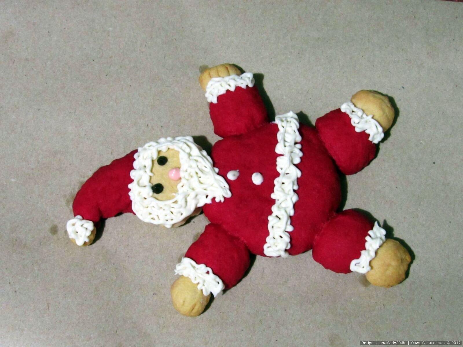 Песочное печенье «Санта-Клаус» – пошаговый кулинарный рецепт с фото. Приятного аппетита!