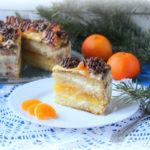 Новогодний мандариновый торт