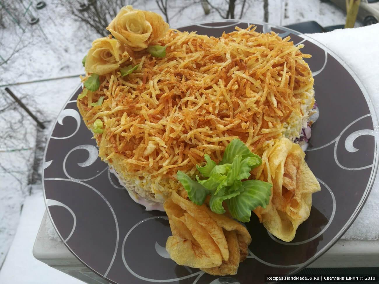 Арабский салат с курицей, капустой и картошкой фри – пошаговый рецепт с фото. Сытное блюдо для романтического ужина