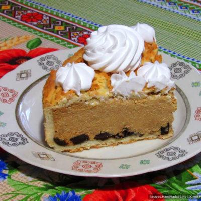 Пирог-сырник с черносливом и варёной сгущёнкой – пошаговый рецепт с фото. Творожный пирог с кремом. Полезная выпечка на детский праздник. Украинская кухня.