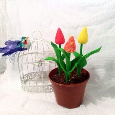 Десерт «Цветы в горшочке» – пошаговый кулинарный рецепт с фото