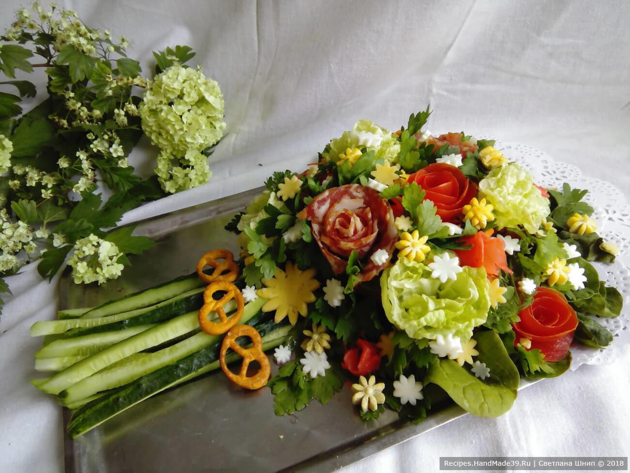 Рецепт салата букет невесты пошагово