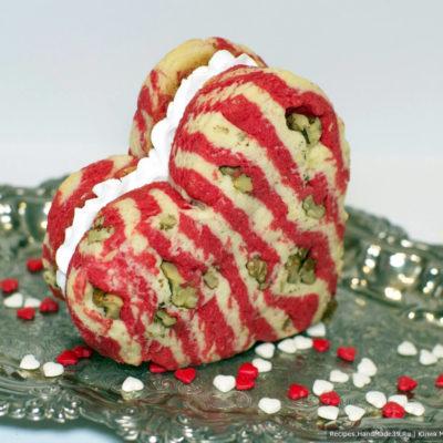 Песочное печенье «Валентинка» с орехами – пошаговый рецепт с фото