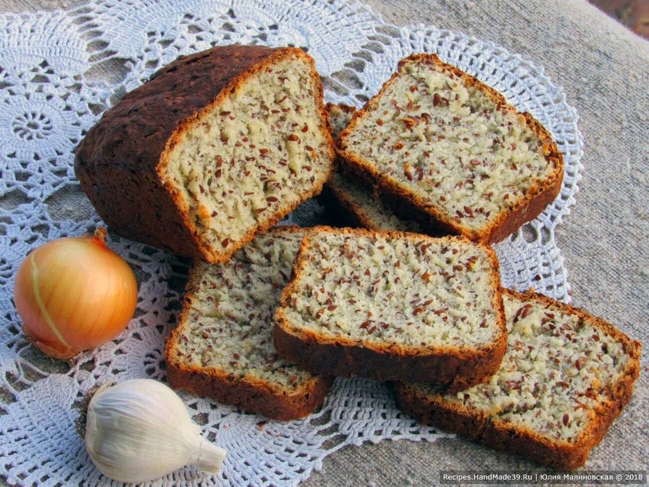 Хлеб на сливках с семенами льна