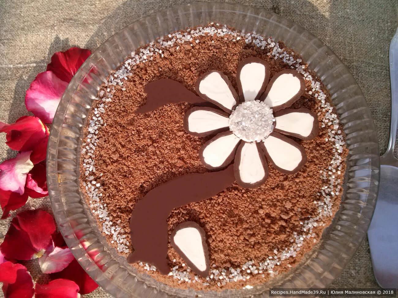 Торт с черёмухой