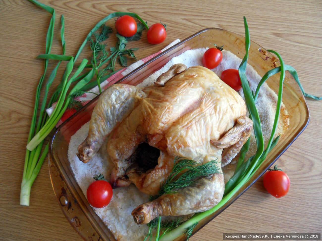 Курица с солью в духовке рецепт пошаговый