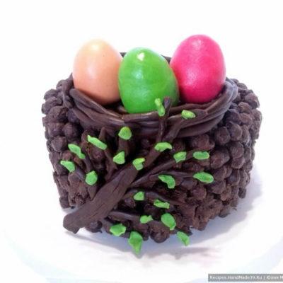 Торт без выпечки «Пасхальная корзинка»