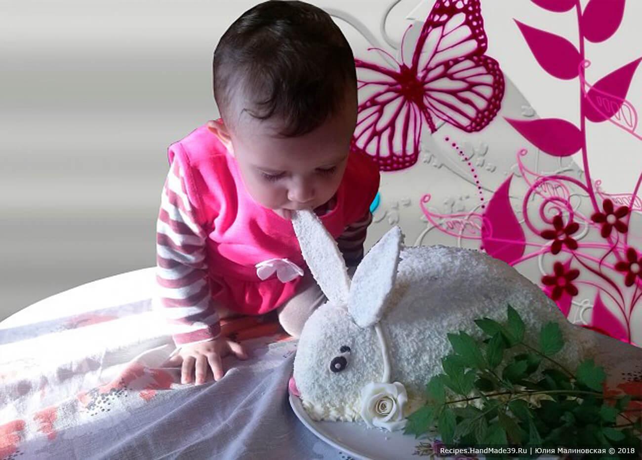 Шоколадный торт «Кролик» – рецепт необычной выпечки на Пасху