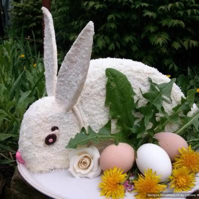 Торт «Пасхальный заяц» с кремом Шарлотт – пошаговый рецепт с видео