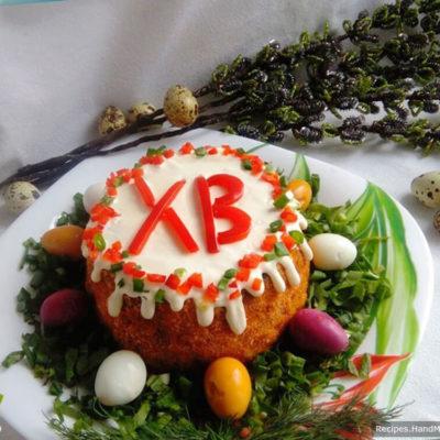 Салат «Пасхальный кулич» – пошаговый кулинарный рецепт с фото