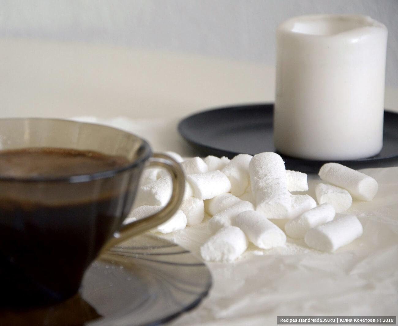 Ванильный маршмеллоу к кофе