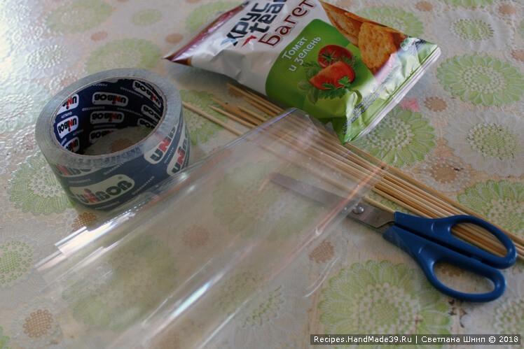 Вынуть сухарики из заводской упаковки