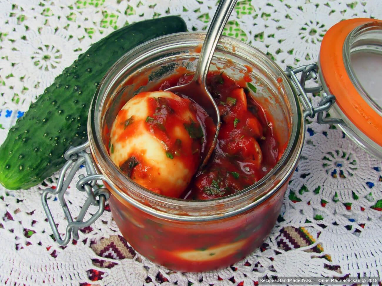 Маринованные яйца с анчоусами по-итальянски