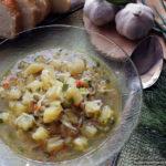 Лёгкий куриный суп с вермишелью