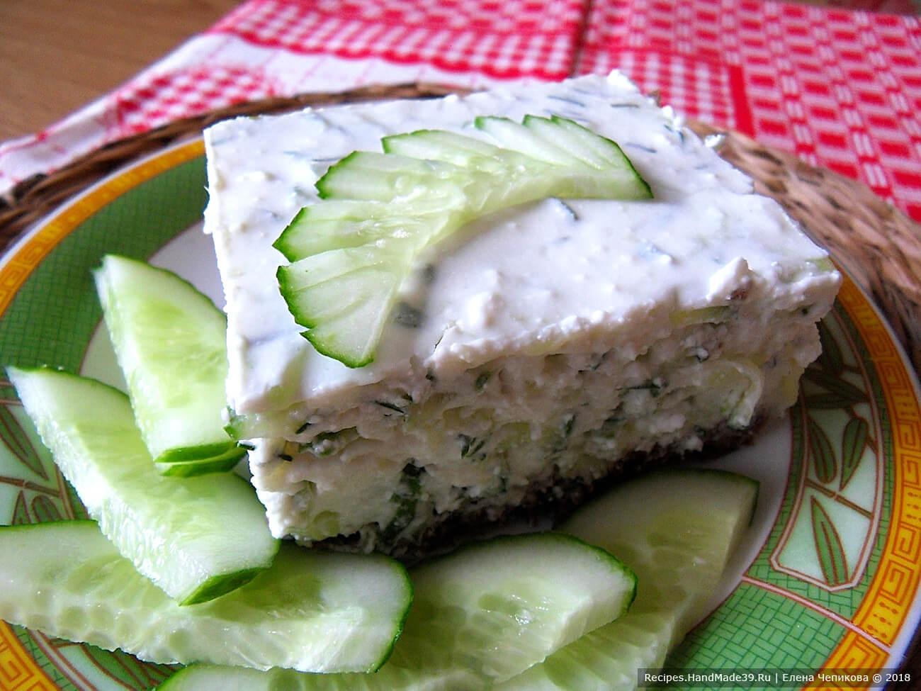 Холодная закуска – огуречный чизкейк – пошаговый кулинарный рецепт с фото