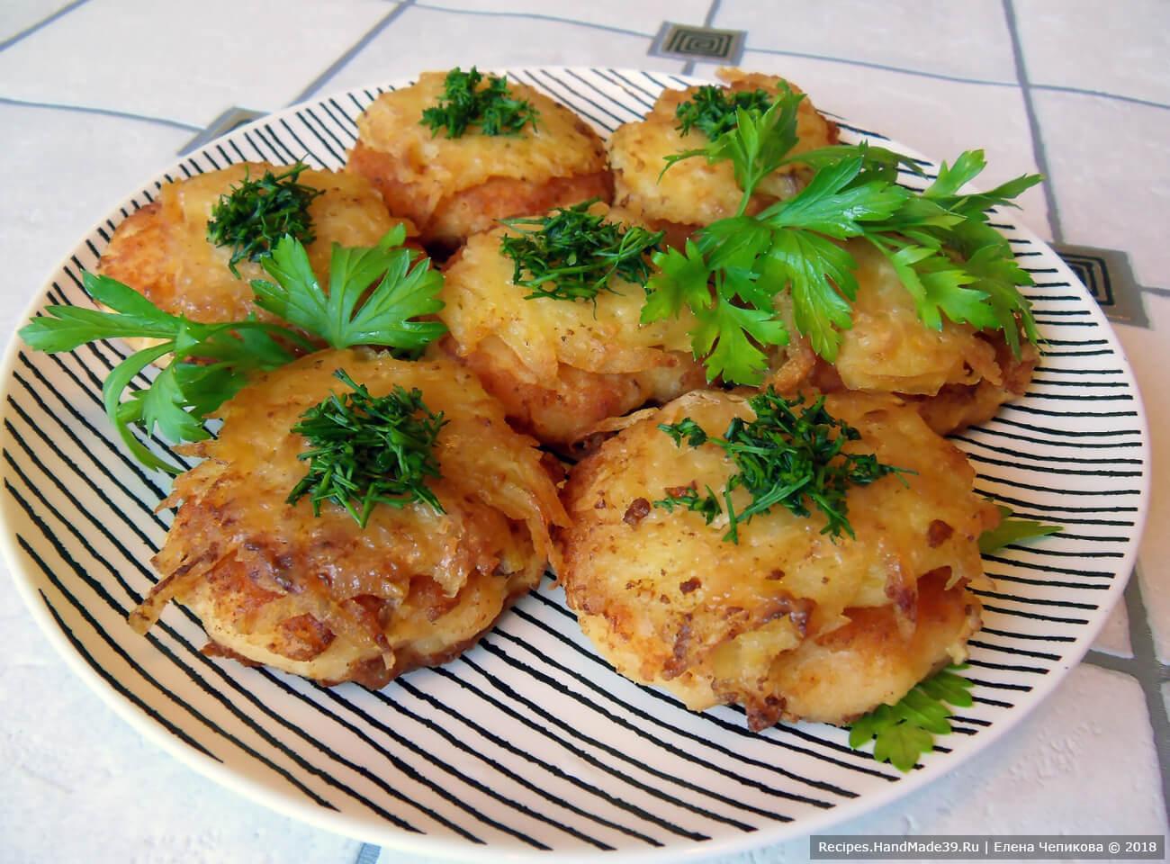 Двухслойные рыбные котлеты с картофельной «шапкой» – пошаговый кулинарный рецепт с фото