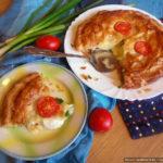 Пирог с камамбером и помидорами черри