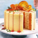 Бисквитный полосатый торт «Апельсин»