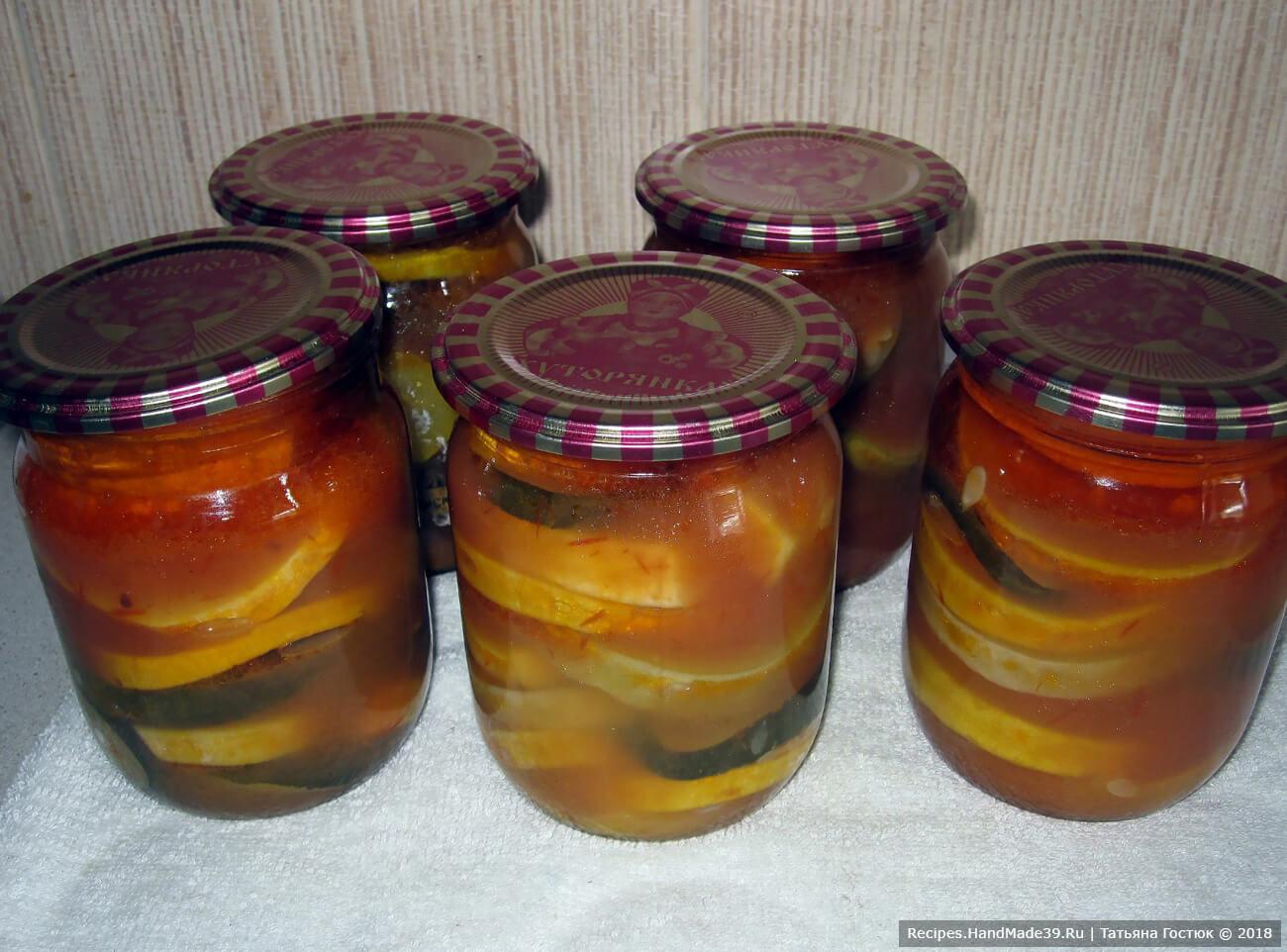Кабачки, консервированные в кетчупе