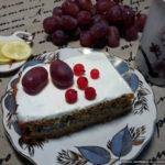 Морковно-маковое пирожное-торт