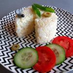 Французский салат с рисом и сыром