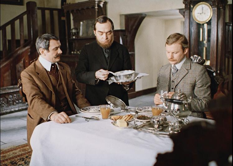 Кадр из телевизионного сериала Игоря Масленникова «Приключения Шерлока Холмса и доктора Ватсона: Собака Баскервилей», 1981 г.