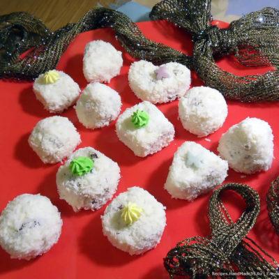 Творожные конфеты «Кокос» с изюмом