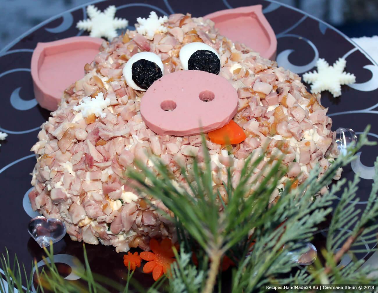Оливье с цветной капустой и копчёной курицей – пошаговый рецепт с фото. Приятного аппетита!