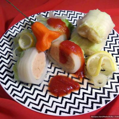 Быстрые голубцы с ветчиной, сыром и пекинской капустой – пошаговый рецепт с фото