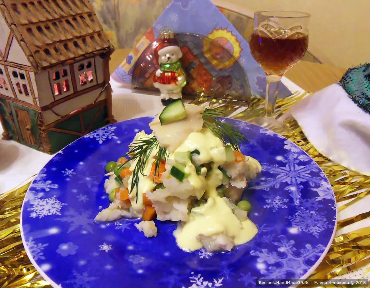 Рецепт салата «Оливье» с белой рыбой. Это не только вкусно, но и полезно! Вариант для людей с гастритом