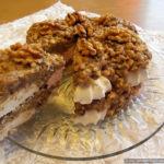 Торт из зефира с печеньем и сгущёнкой без выпечки