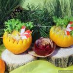 Лёгкий дамский салат с апельсином