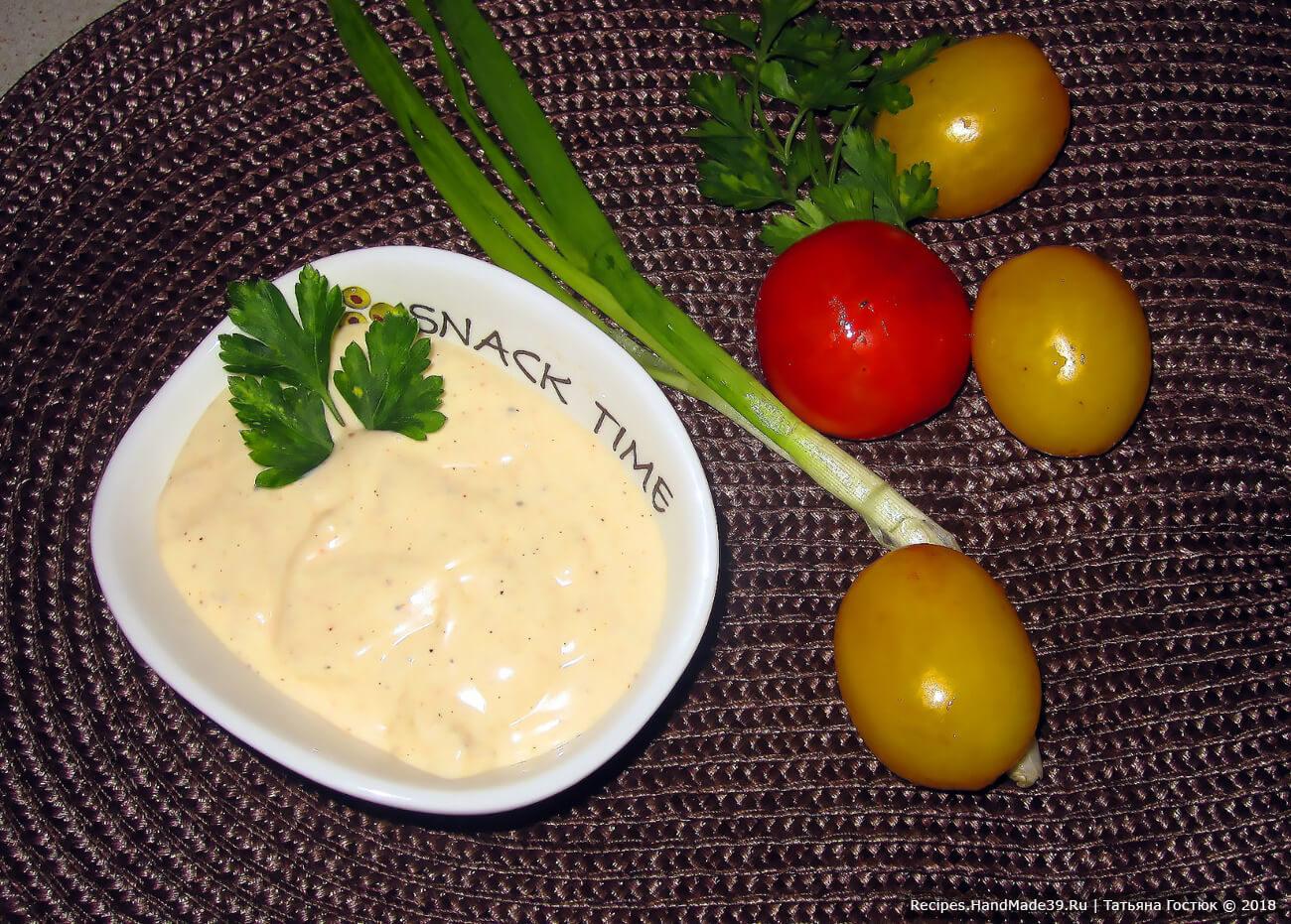Домашний соус для шавермы