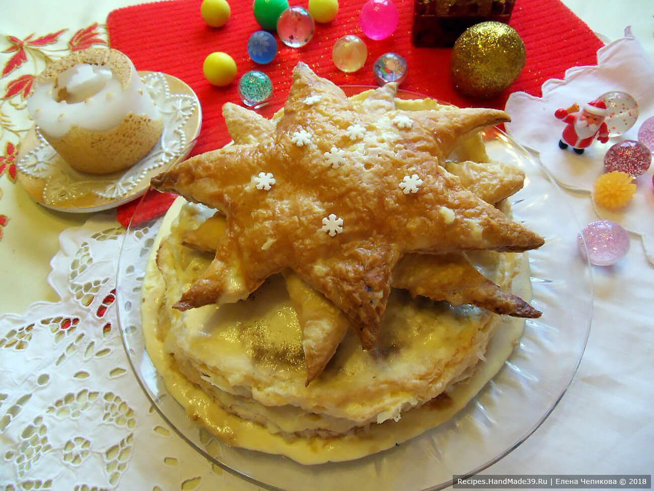 Вот она – «Рождественская звезда тирамису»! Приятного аппетита!