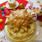 Слоёный торт «Рождественская звезда тирамису»