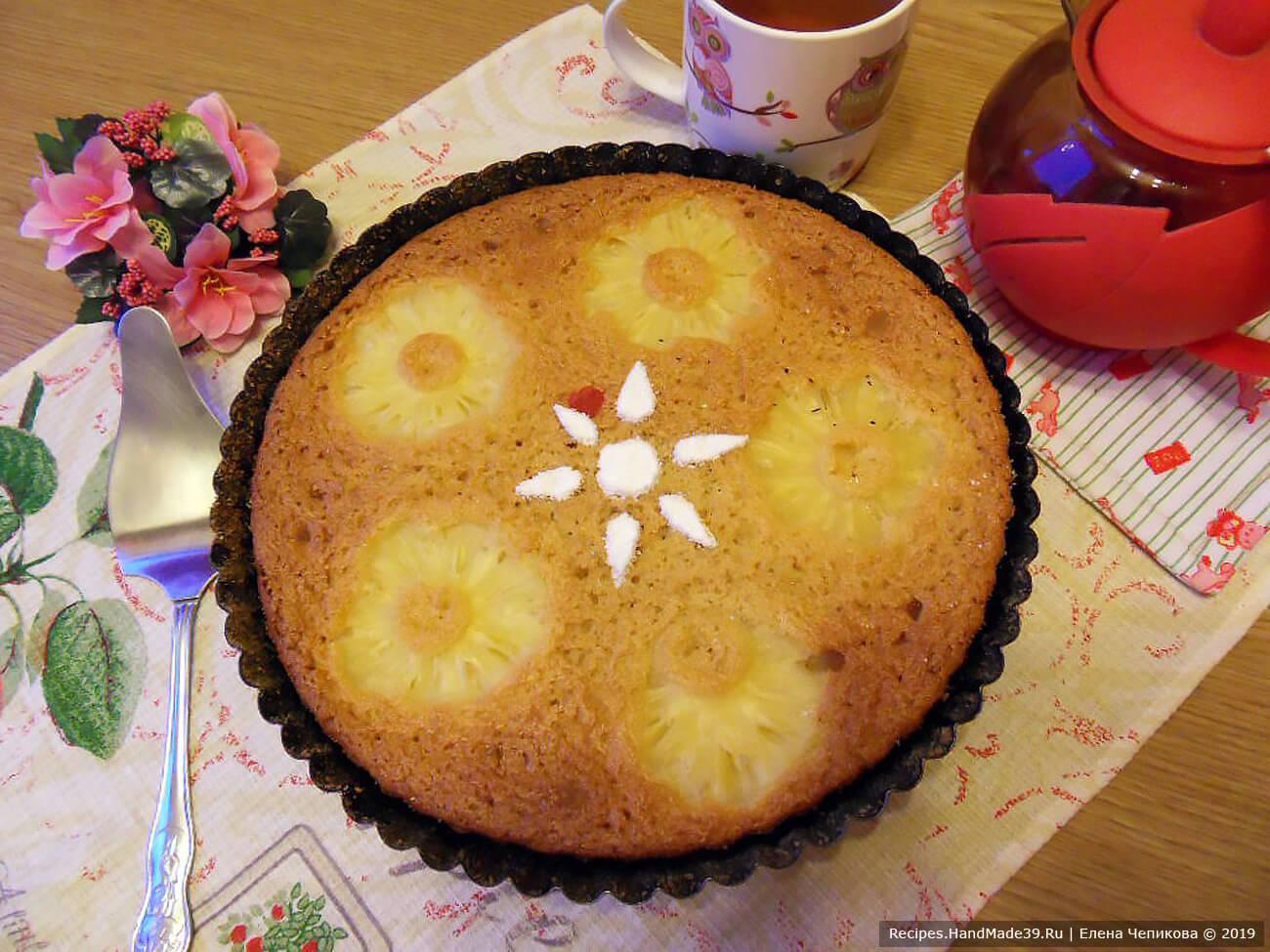 Рецепт пирога-манника на йогурте с ананасами: как сделать вкусную выпечку без муки