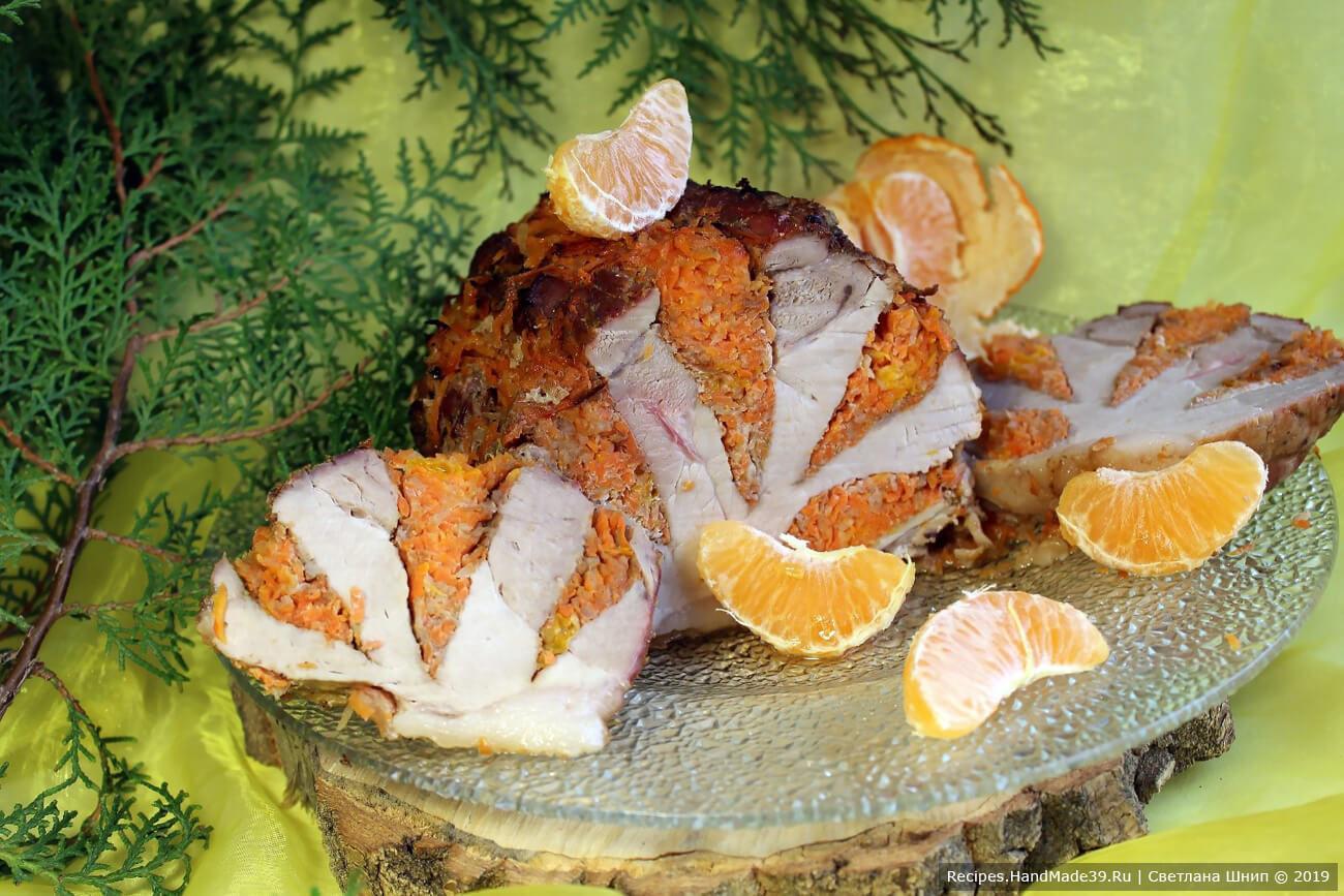 Мясо-гармошка «Мандарин», запечённое в рукаве