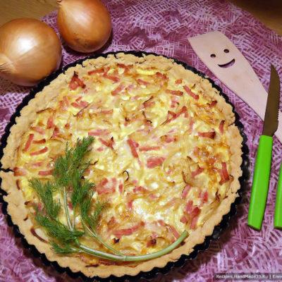 Французский луковый пирог – пошаговый кулинарный рецепт с фото