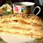 Баварский яблочный торт с заварным кремом