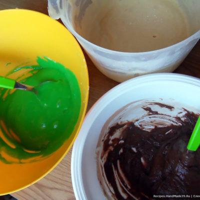 Три части теста для кекса готовы