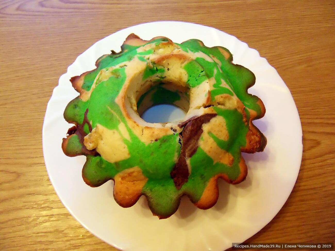 Аппетитный камуфляжный кекс