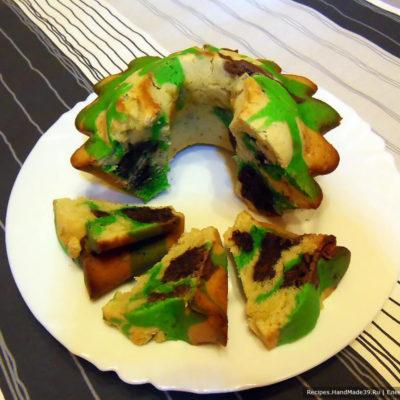 «Камуфляжный» кекс – пошаговый кулинарный рецепт с фото