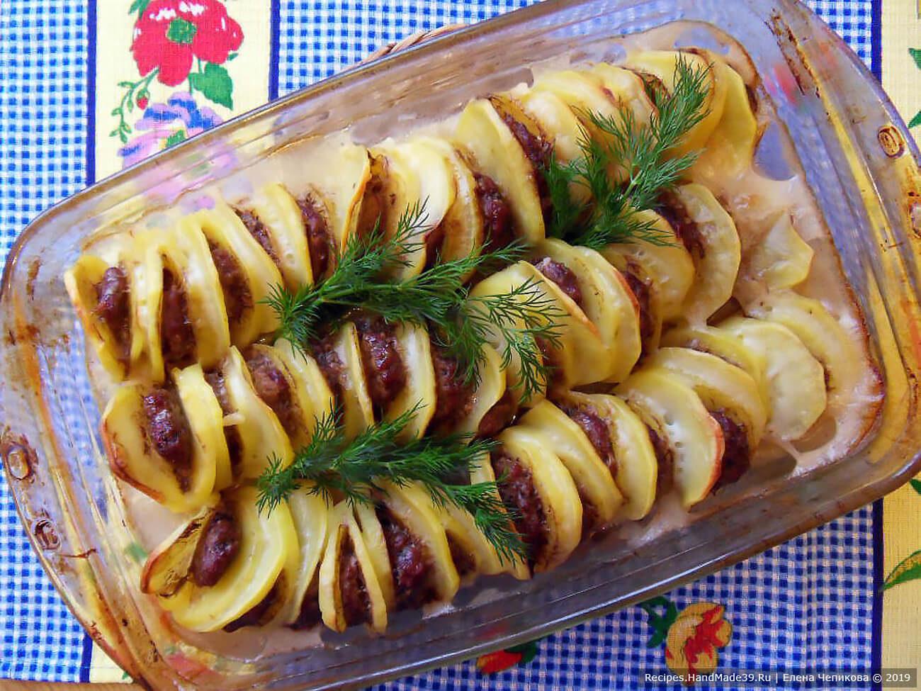 «Пьяный картофель» с мясом, запечённый в духовке